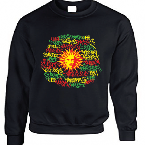 V Ragga tags Black Sweatshirt